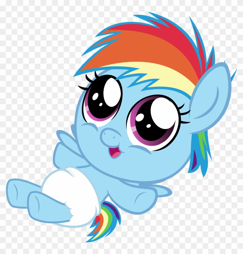 Source - Derpicdn - Net - Report - Mlp Rainbow Dash - Cute My Little Pony Baby Drawings #974190