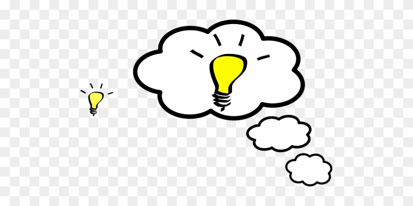Idea Cloud Think Concept Symbol Design Bus - Light Bulb Clip Art #974592