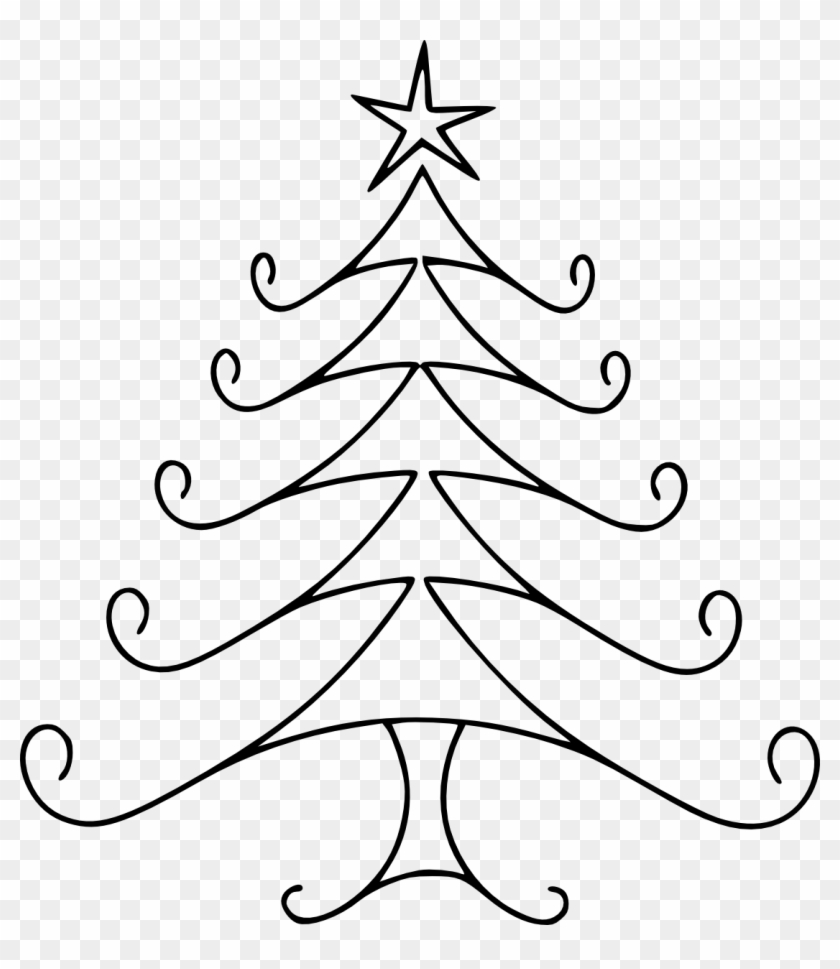 ztx55ayac christmas tree line art cow clipart easy to draw christmas trees - How Do You Draw A Christmas Tree