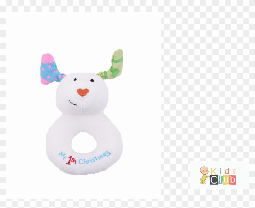 Snowdog Ring Rattle - Snowman My First Christmas Jingle Bell Ring Rattle #976032