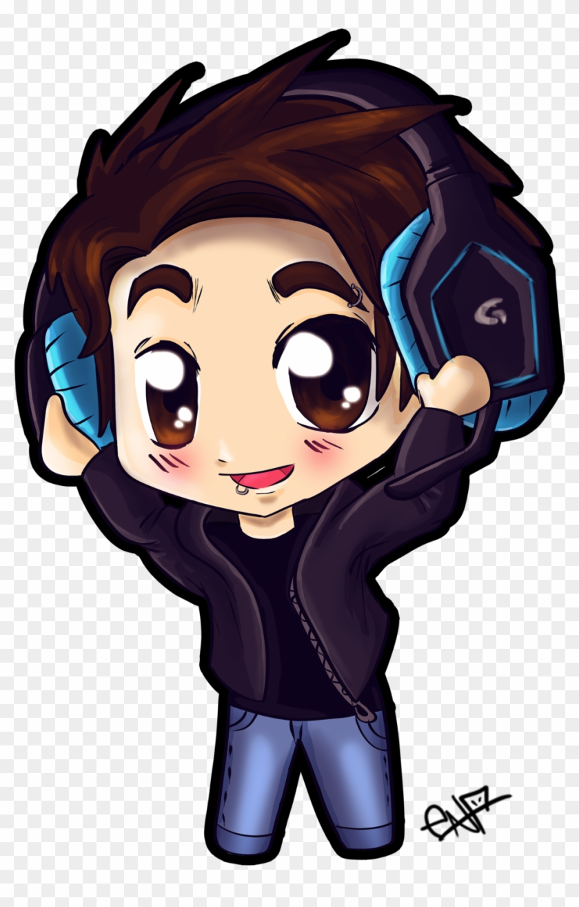 chibi boy with headphones by ena the original chibi boy with