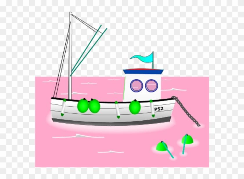 Fishing Boat Clip Art Barco De Pesca Dibujo Free Transparent Png