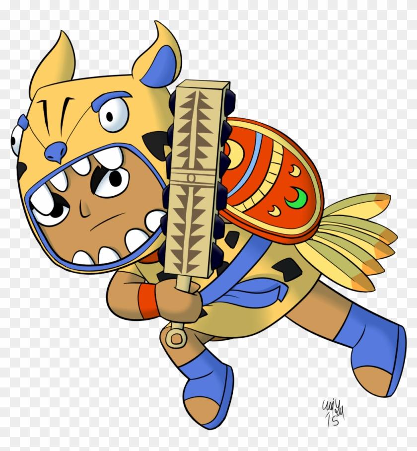 The Aztec Jaguar By Katonator On Deviantart Zuma The Jaguar Warrior Free Transparent Png Clipart Images Download