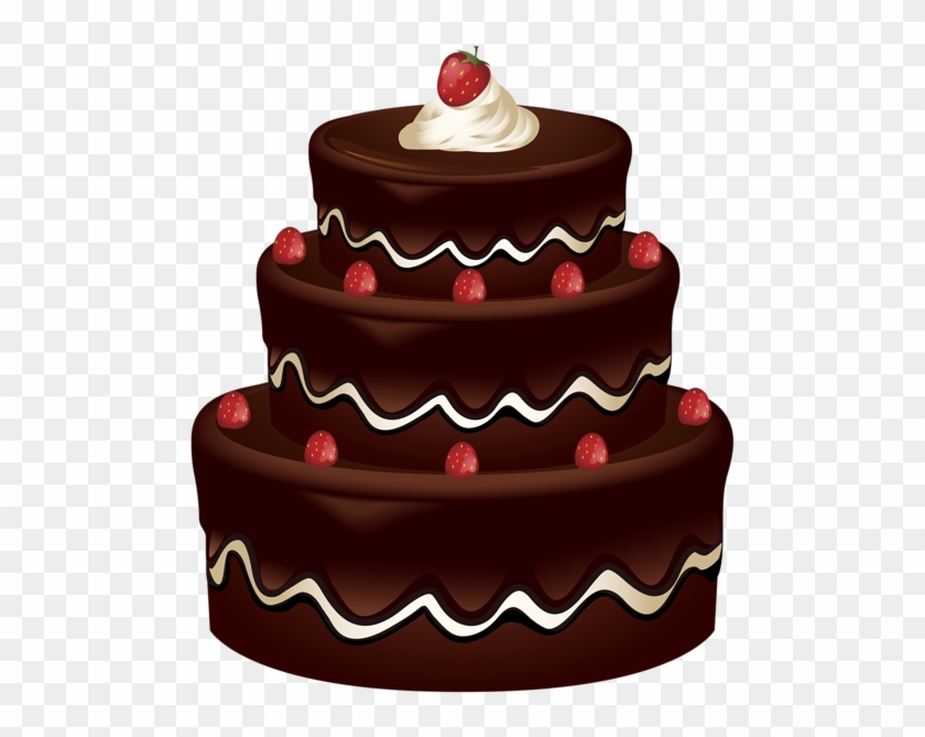 Clip Art Of Chocolate Cake Png Images Free Download - Birthday Chocolate Cake Png #977499