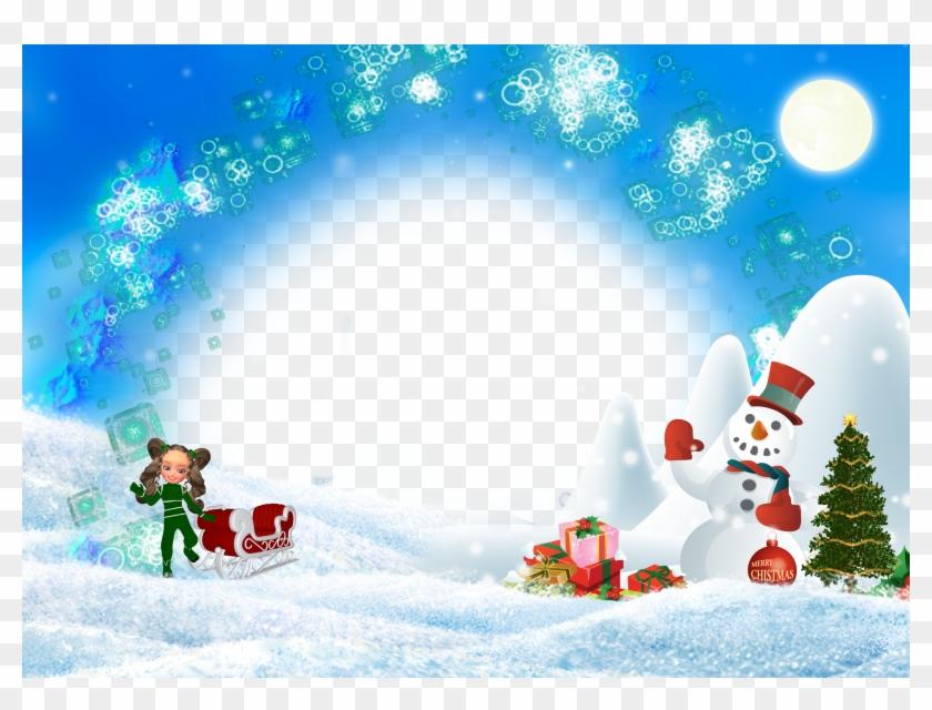 [parte 3] Bajar Marcos Para Fotografías Navideñas [christmas - Christmas Gifts. Snowman. Sur Tile Coaster #977847