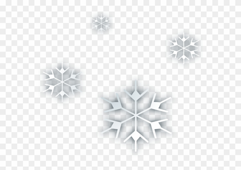 Snow Flakes Clip Art At Clker - Animated Falling Snow Png #977901