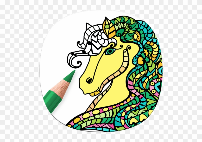Horse Coloring Book For Adults Coloring Pages For Adults Supercoloring Zentangle Free Transparent Png Clipart Images Download