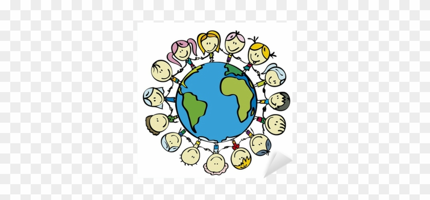 Kids Around The World Save The Planet Earth Holding Children Save