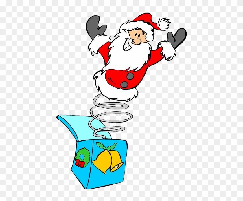 Christmas, Holiday, Clip Art, Jack In The Box, Santa - Clipart Jul #978441