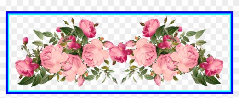 Amazing Pink Rose Border Vintage Style Frames For Flower - Page Border Flower Design Hd #978448