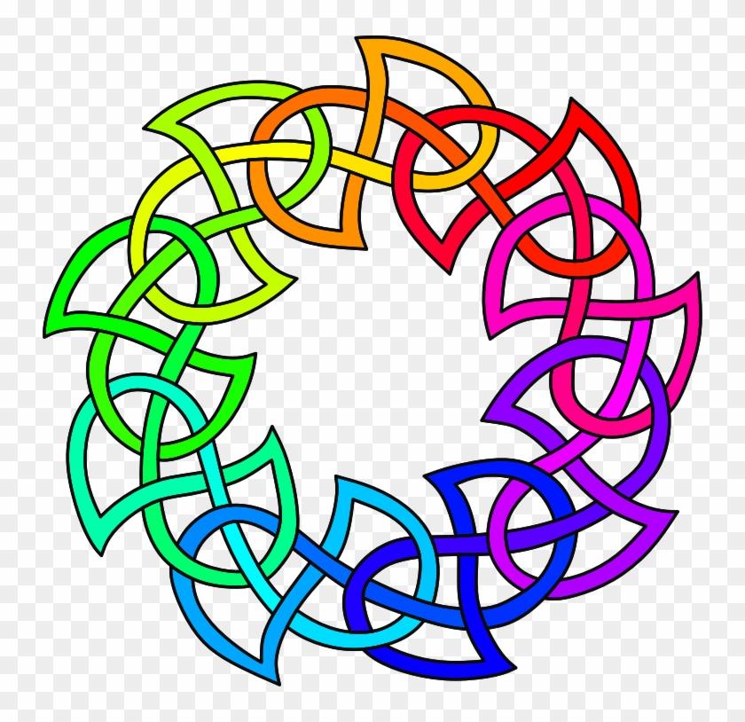 Medium Image - Rainbow Pentacle Oval Sticker #978753