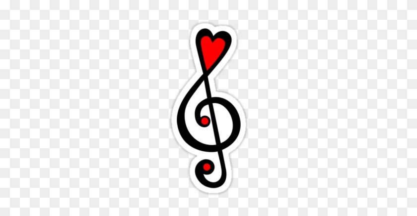 Musical Wings By Fourpartfox - Treble Clef Bass Clef Heart - Free  Transparent PNG Clipart Images Download