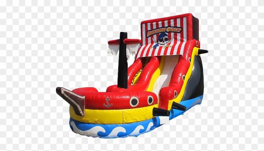 Pirate Ship Water Slide - Pirate Ship Bounce House Slide #980107