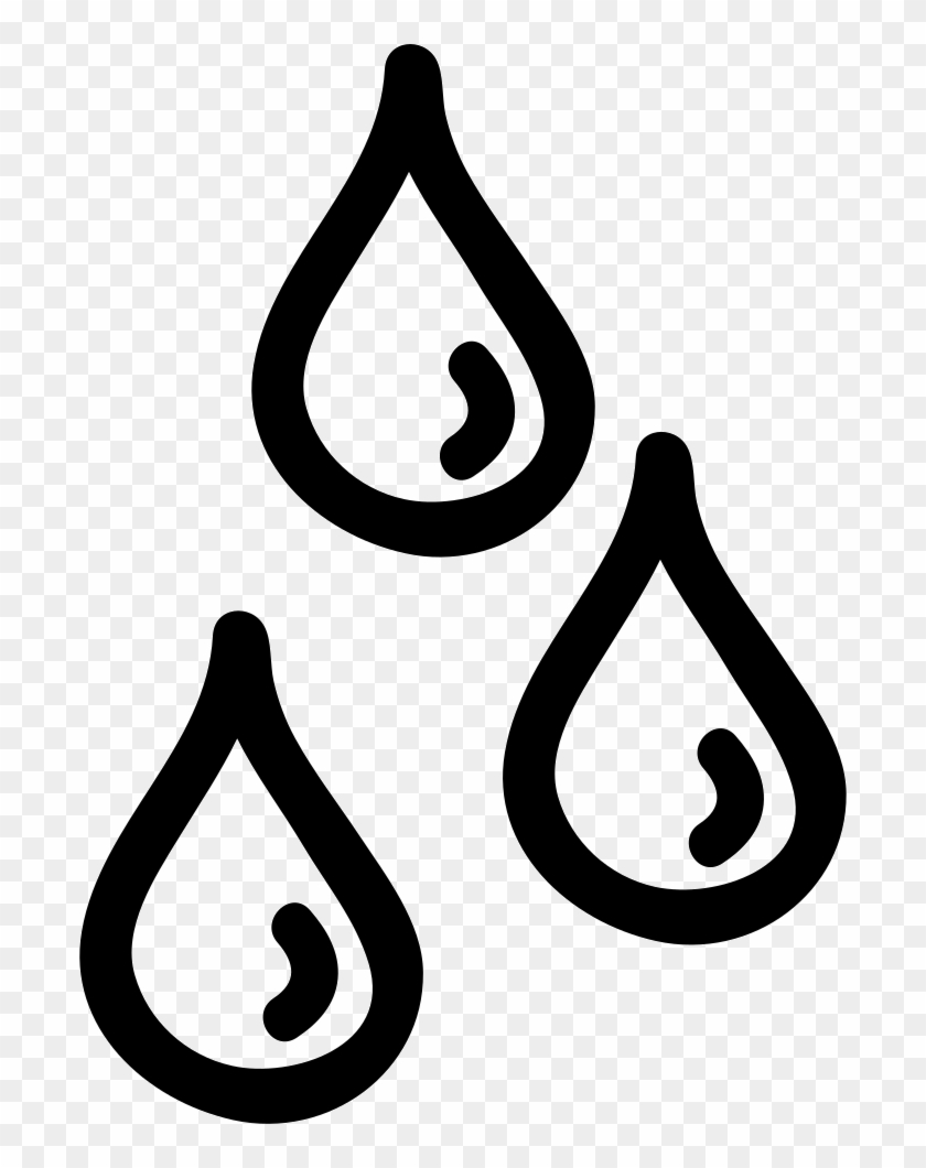 Water Drops Hand Drawn Outlines Comments - Water Drops Outline #981675