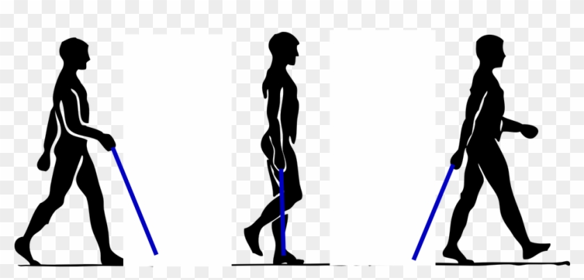 How To Walk With A Walking Stick - Outline Of Walking Person #982138