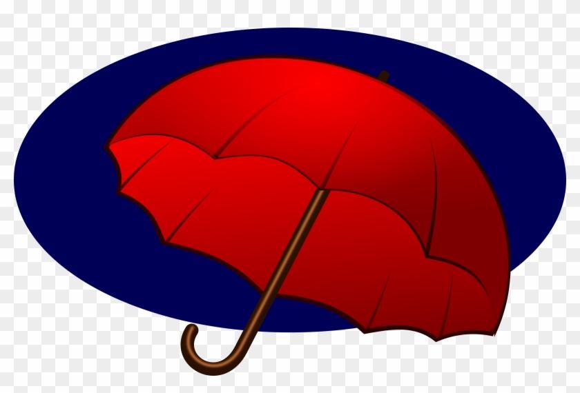 Clipart - Umbrella - Mulher Com Guarda Chuva Vermelho Desenho #982708