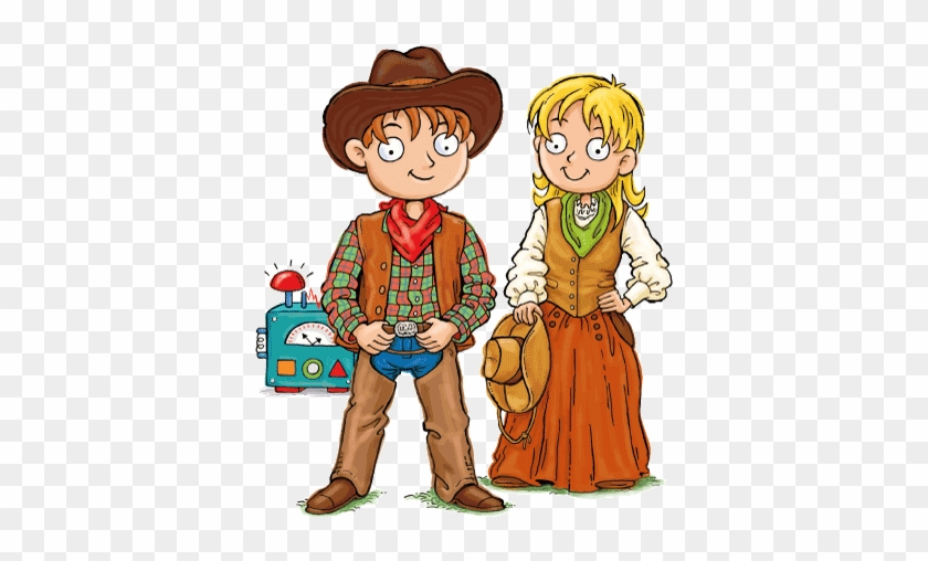 Max And Katie Wild West For Kids - Cartoon #982963