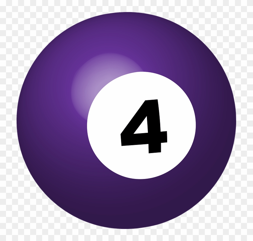Number 4 Cliparts 4, Buy Clip Art - 4 Ball Pool Png #983335