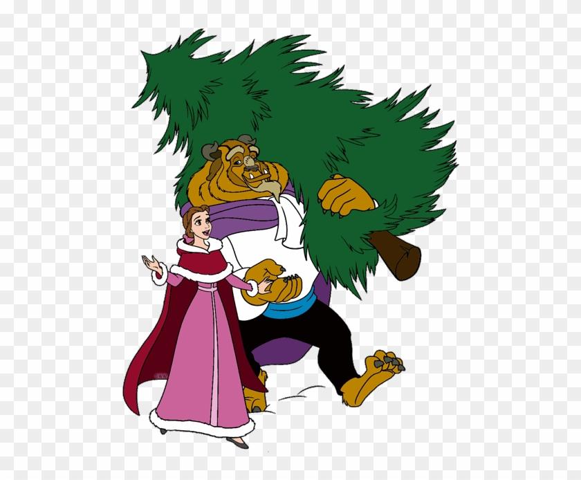Christmas Tree Clipart Disney - Beauty And The Beast Christmas Clipart #983451
