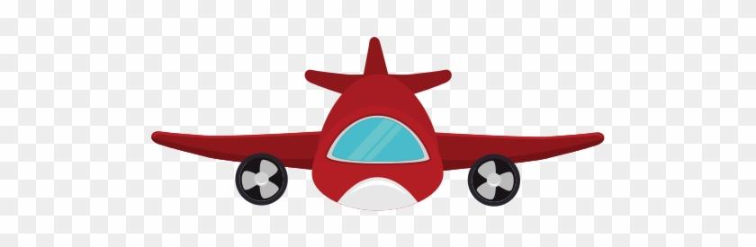 Red Airplane Dos Medios De Transporte Terrestre Free Transparent