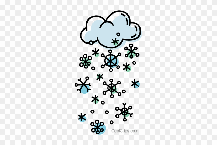 storm clouds with snowflakes royalty free vector clip poem about