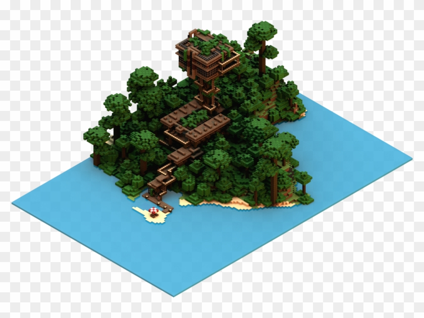 Isometric Minecraft Jungle House By Carlkempe On Deviantart Pixel Art Free Transparent Png Clipart Images Download