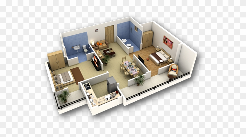 . Online House Design In D And D With Construccin 3d   Flat 3 Bedroom