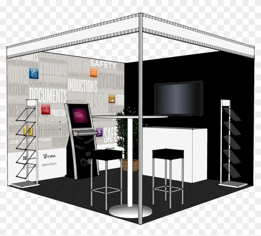 Exhibition Floor Plan A 3d Mockup Of The Booth We Produced - Trade
