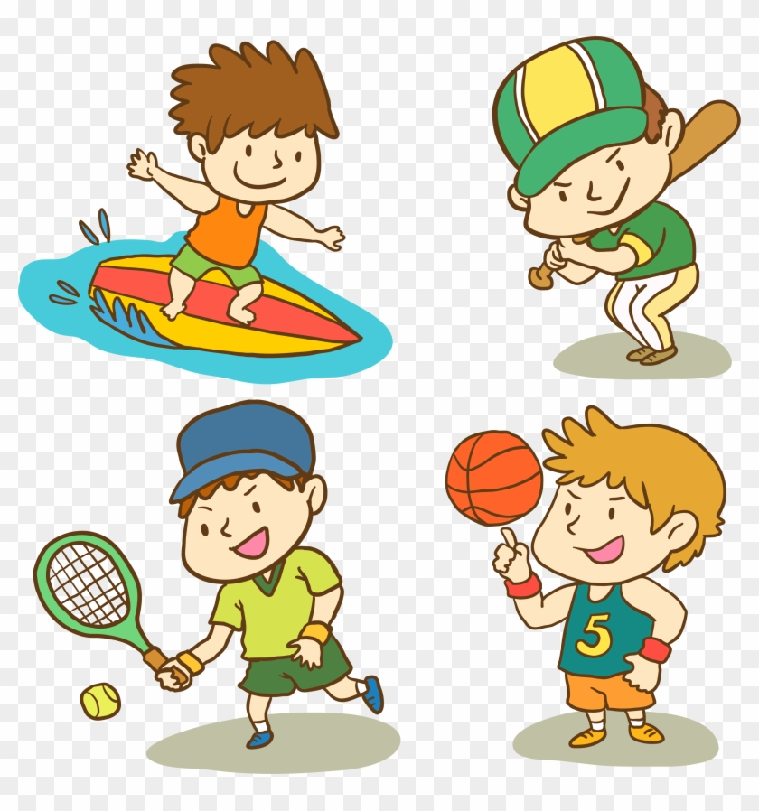 cartoon sports sport child vector clipart play middle transparent clip