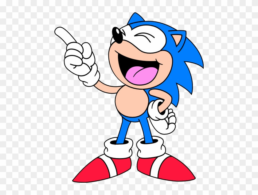 Classic Sonic Laugh Classic Sonic 2d Art Free Transparent Png