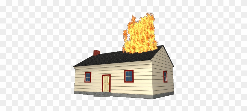 House Fire - Cartoon House On Fire Gif - Free Transparent PNG