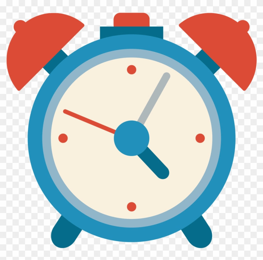 Alarm Clock Icon - Blue Cartoon Clock - Free Transparent ...