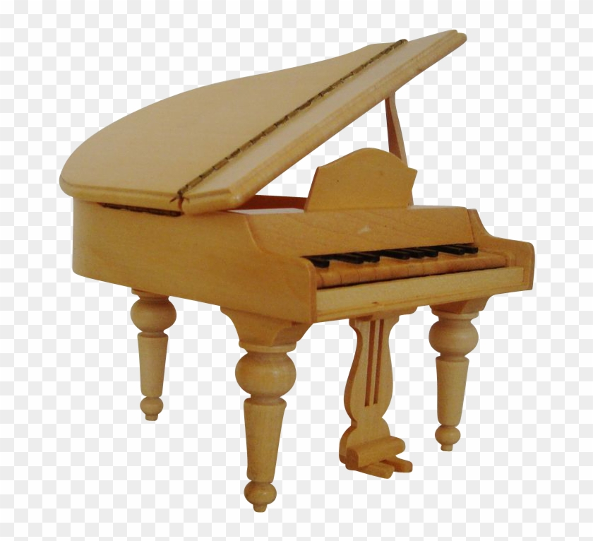Miniature Wood Dollhouse Furniture Grand Piano Doll - Dollhouse #987212