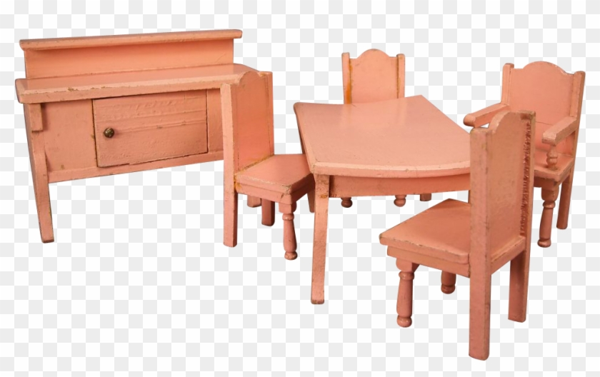Vintage Doll House Furniture Kitchen Dining Room Table Free
