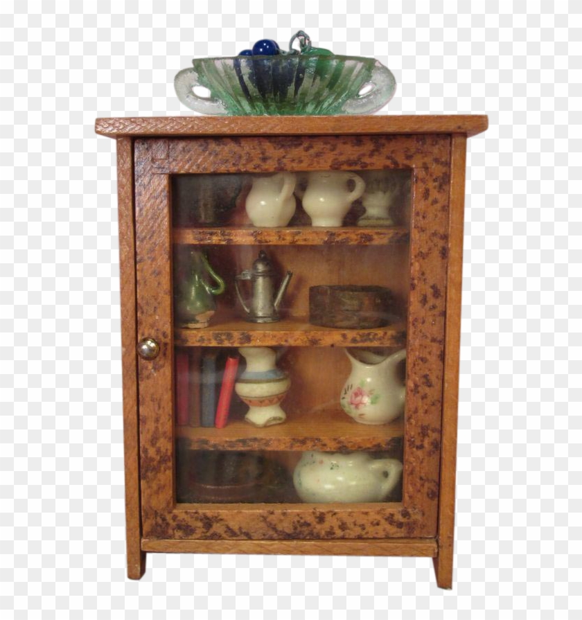 Wooden Doll House Furniture China Cabinet Free Transparent Png