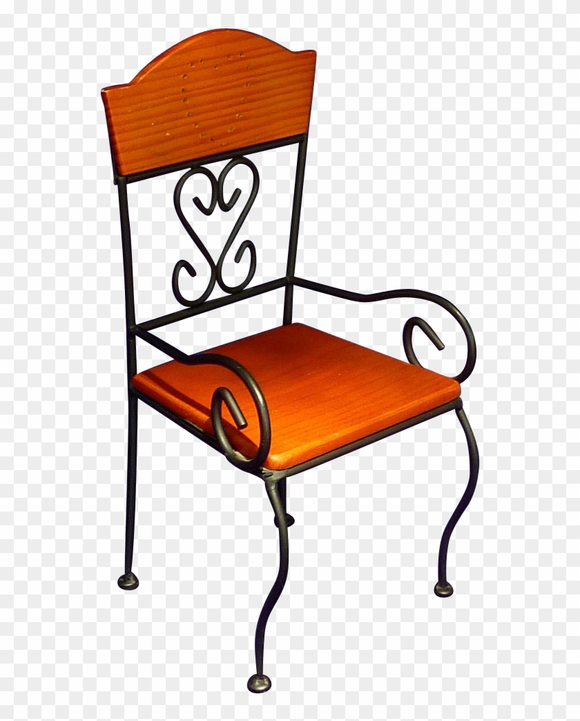 Wrought Iron Lounge Chairs Furniture Black End Tables - Chair #987421