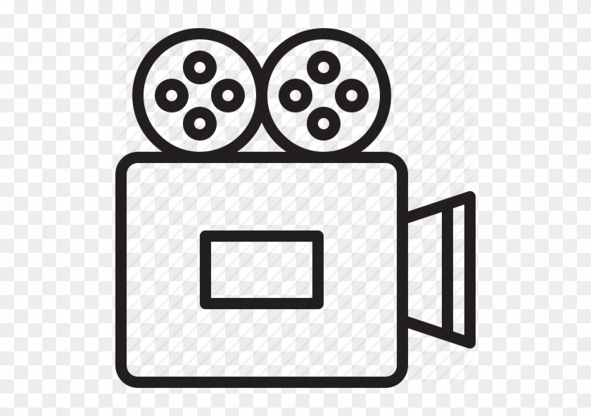 Pin Film Roll Clipart - White Movie Camera Png #987721