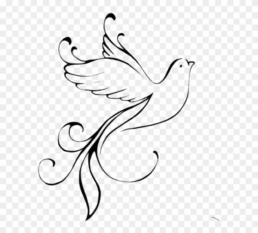 Drawn Turtle Dove Flying Symbol Of Gods Grace Free Transparent