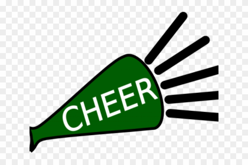 Cheerleading Megaphones Clipart - Green And White Pom Poms Clipart #989329