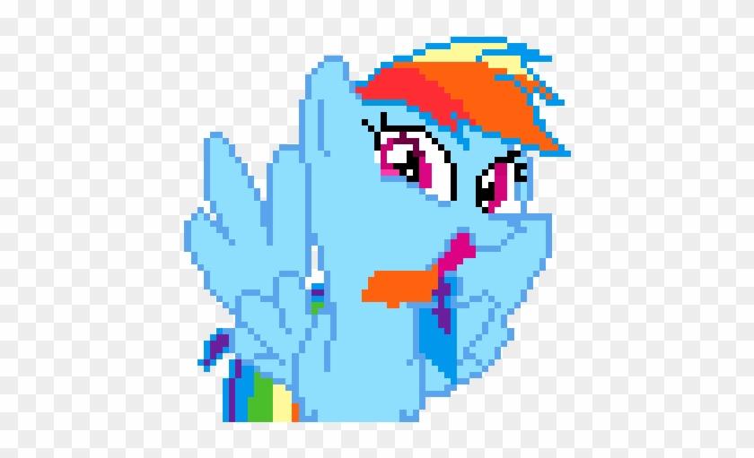 Rainbow Dash Tongue Lick By Tox-box - Digital Art - Free