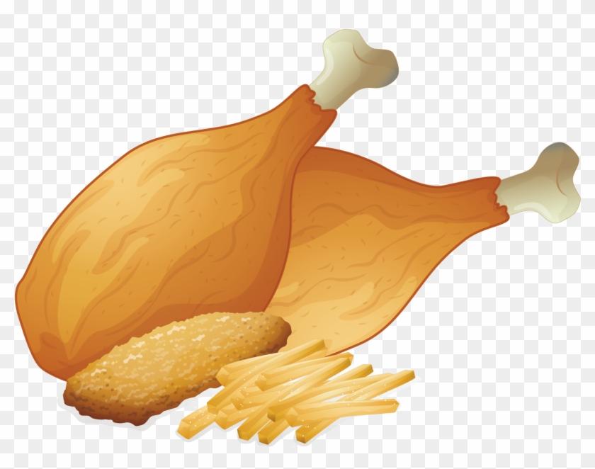 Fried Chicken Fast Food Chicken Leg Barbecue Chicken - Vector Fried Chicken #989473