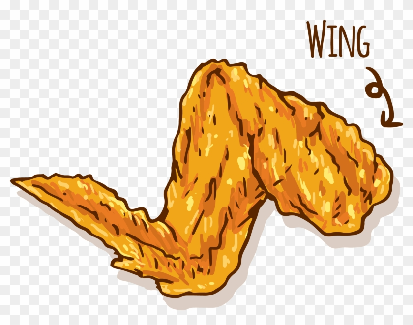 Hamburger Fried Chicken Buffalo Wing Fast Food - Chicken Wings Vector Png #989495