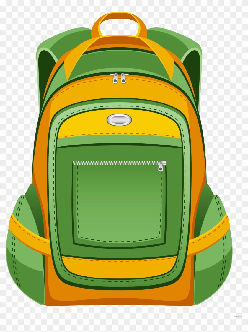 School Backpack Tools Free Clipart Images Bclipart - School Bag Vector Png #989838