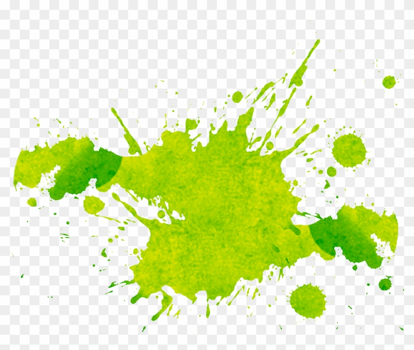 Watercolor Painting Microsoft Paint Splash Clip Art - Green