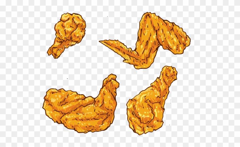 Fried Chicken Buffalo Wing Euclidean Vector Chicken - Chicken Wings Cartoon Png #989874