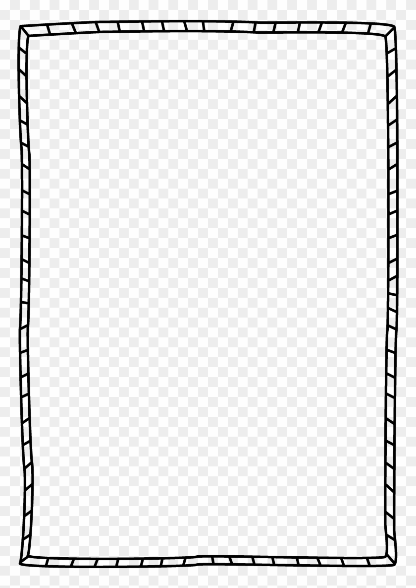 Striped Border - White Simple Frame Png - Free Transparent ...