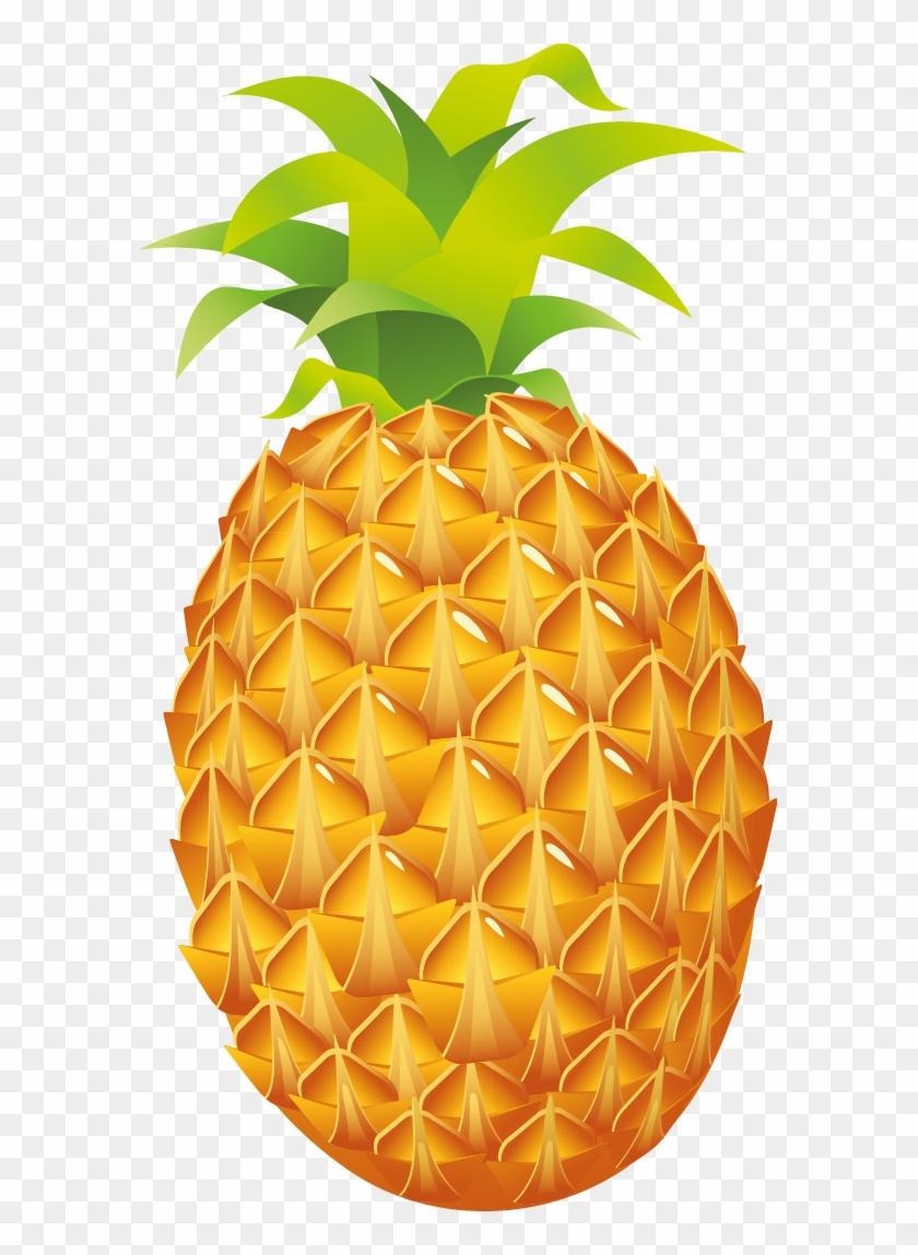Juice Clipart Pine Apple - Pineapple Fruit Clipart Png #990062