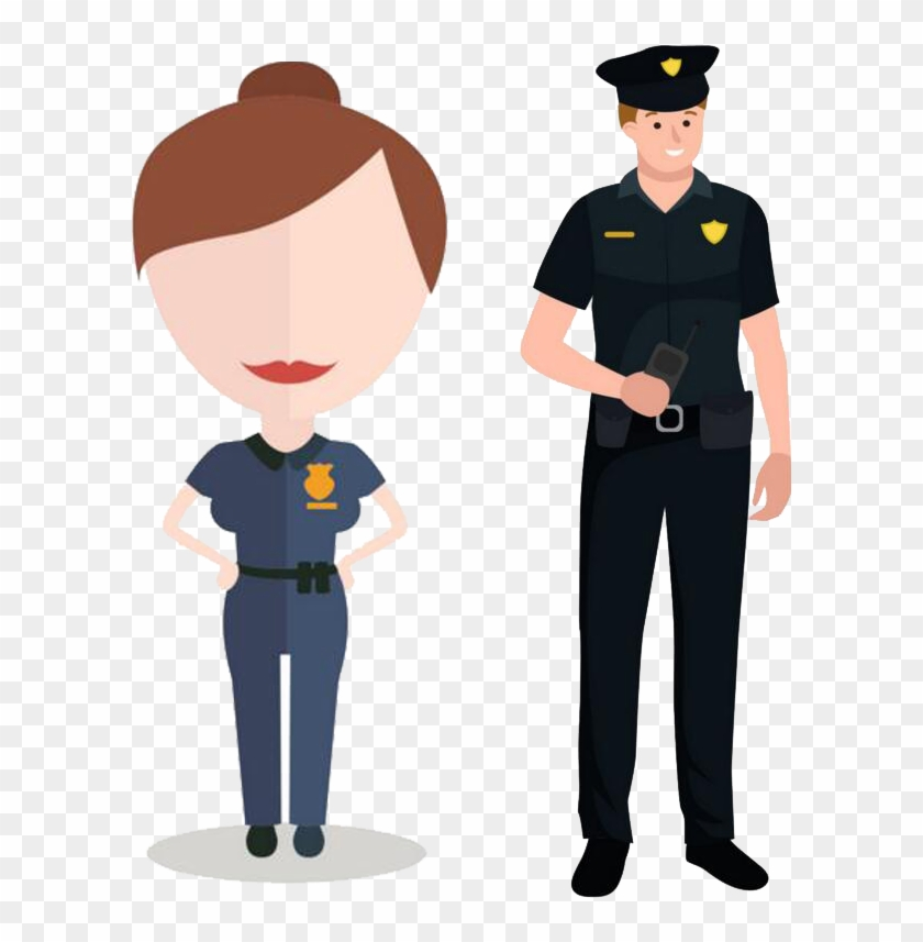 Police Cartoon Security Guard Career With Batons Clipart (#222998) -  PinClipart