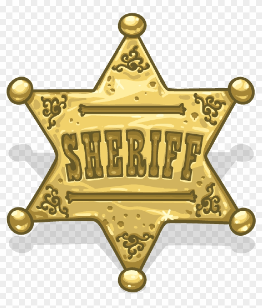 This is a graphic of Printable Sheriff Badge inside silhouette