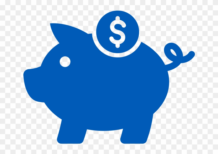 Piggy Bank Icon In Blue - Money Pig Icon Png #990700